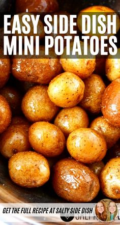 Easy Mini Potato Side Dish Recipe - Mini roasted and smashed creamer potatoes are a delightful and easy side dish full of flavor in every bite. This recipe is sure to go on your monthly side dish rotation! Roasted Mini Potatoes, Smashed Potatoes Recipe, Potatoes In Oven, Potato Side Dishes, Side Dishes Easy, Cooking For A Group, Best Oven, Beverages, Drinks