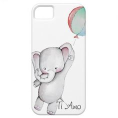 Baby Elephant with Balloon iPhone 5 Case