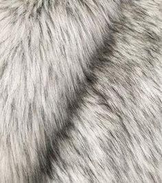 Fashion Faux Fur Fabric-Silver Fox