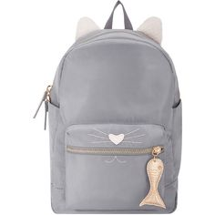 Our Millie cat backpack embraces fashion's playful mood of the season. In neutral nylon with furry ears and embroidered whiskers, it fuses fun with function b…