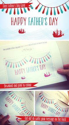 Free printable Father's Day Card #DIY #printable