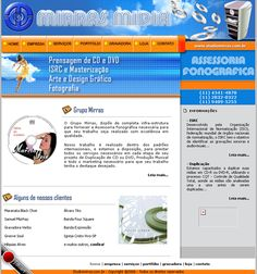 Site em HTML, CSS e Flash da Mirras Midia - 2006