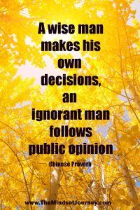 A wise man makes his own decisions, an ignorant man follows public opinion.