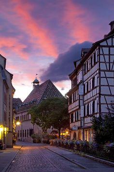 Twilight in Colmar, Alsace, France