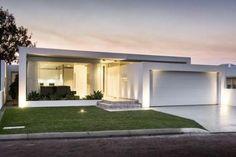 58 trendy Ideas for exterior house design modern one floor - Exterior Design Modern Small House Design, Contemporary House Plans, Modern House Plans, House Paint Exterior, Exterior House Colors, Modern House Facades, Modern Architecture, Facade Design, Exterior Design