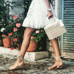 #summerstyle #summertrends As the months get warmer think romantic picnic style with a #wicker handbag like this one from @prada makes the perfect statement.  #theperfectbag #stylistspick #whatilovenow #whattobuy