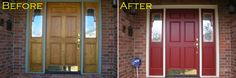 LOW COST CURB APPEAL  Paint your front door a bold, fresh color! It will make a huge difference.