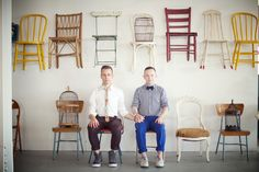 Adam + Eric Engagement Shoot via Weddings By Two / Photos by Guy Ambrosino / Furniture by @PATINA
