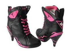 i was gonna get these jordan hot pink and black heels.