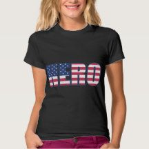 Hero American Flag Stars Stripes Red White Blue Tee Shirt