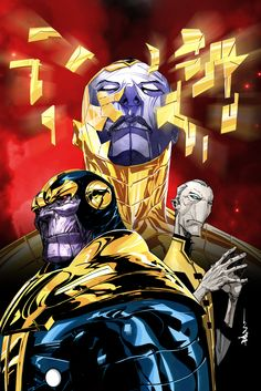 Thanos, Thane, and the Black Order by Dustin Nguyen
