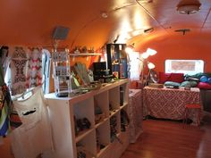a vintage airstream stocked with arts & craft supplies!
