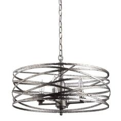 """Miseno MLIT143977RT Annata 4-Light Chandelier with 72"""" Adjustable Chain 
