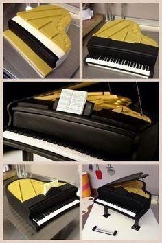Making the piano cake