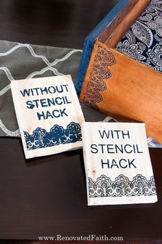 The Best Way to Stencil on Wood [Without Bleeding!] These 5 easy tips on how to stencil on wood furniture & wooden signs without bleed-through will sav Stencils For Wood Signs, Stencil Wood, Letter Stencils, Stencil Painting, Glazing Furniture, Paint Furniture, Furniture Projects, Furniture Makeover, Wooden Projects