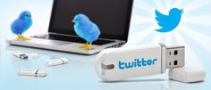 Twitter branded flash drive
