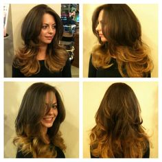 Round Layers with Ombre Color #beautiful hair #ombre color #Long Layered Hair Cut  #Fabrizio Style