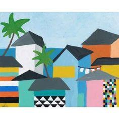 Beachfront Property 3 Canvas Art - Jan Weiss (24 x 30)