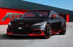 The Germany- based motor racing and auto tuning company ABT Sportsline has presented its interpretation of the world premiere, the all-new Audi TT. The racy coupe was unveiled in spring and went into . Audi Rs6, Lamborghini, Ferrari, Tt Tuning, Automobile, Black Audi, Chip Foose, Audi Sport, Modified Cars