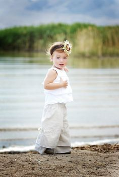 CHILDREN Vintage Style Pants  Linen  2 Years of by BoutiqueMia, $44.00