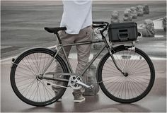 The beautiful commuter bike has a design influenced by hand built porteur bicycles of the and the integra Motorcycle Backpacks, Ducati Scrambler, Urban Bike, Cycle Chic, Commuter Bike, Bicycle Design, Bike Life, Cool Bikes, Motorcycles