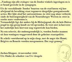 Quote. Kristallnacht. Citaat uit dagboek Jochen Klepper.