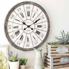 Reloj de metal D 60 cm JAGUÈRE 69,99 + portes