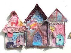 little fabric houses