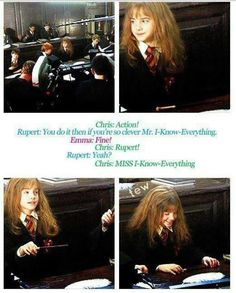 Proof that Ron Weasley didn't realize Hermione Granger was a girl until their fourth year. Oh my Romione! Harry Potter Jokes, Harry Potter Cast, Harry Potter Universal, Harry Potter Fandom, Slytherin, Hogwarts, Scorpius And Rose, No Muggles, Plus Tv