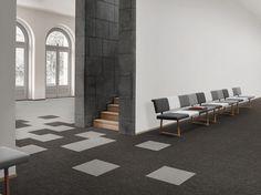 Desso Transitions Carpet: Salt/Rock - subtle colour accents with outspoken and vibrant tones.