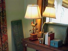 Rooster Weathervane Lamp  H199024 - The perfect size lamp for so many rooms. http://qvc.co/ShopValerieParrHill