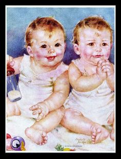 "CHARLOTTE BECKER (1907-1984) LINEN CALENDAR ART PRINT ""SUNSHINE AND SHOWERS"" | eBay"