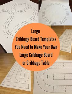 These are the Cribbage Templates you need to make your own Large Cribbage Board or Cribbage Table. #makecribbageboard #cribbage #largecribbageboardtemplate #cribbagetemplate #largecribbageboard