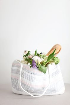 DIY Rope Market Bag: http://www.stylemepretty.com/living/2015/05/03/12-favorite-diy-gifts-for-mothers-day/