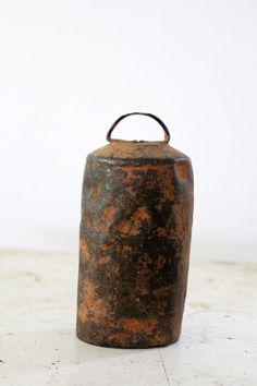 Antique Cow Bell / Rustic Farm Bell by 86home on Etsy, $80.00