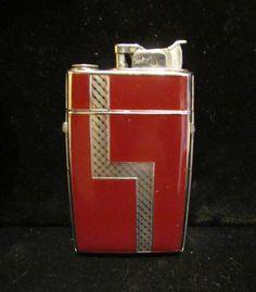 Vintage Cigarette Case Art Deco Lighter Evans Case Lighter 1940s Enamel Case Lighter Vintage Case Lighter WORKING LIGHTER