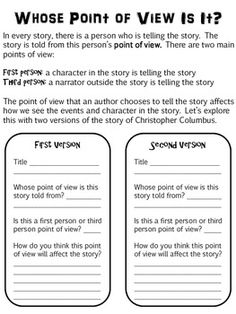 Point of View RL2.6 | Point Of View, Paragraph and The Story