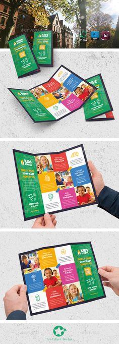 Preschool Education Tri Fold Brochure Template HttpWwwDlayouts
