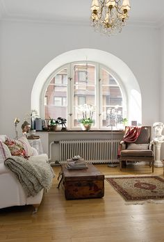 Spectacular Arched Window.