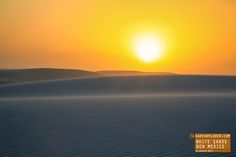 Amazing Sunset at White Sands in New Mexico — earthXplorer adventure travel…
