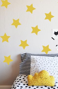 """Need these for Colton just in Gray or Navy!! Large Stars Decorative- 6"""" - WALL DECAL"""
