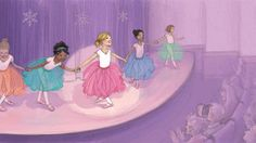 A page from Dancing Dreams, illustrated by Kristi Valiant