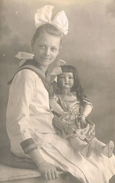 Sailor Girl Big Doll Early 20th Century in Dresden.