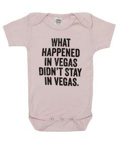"""""""""""What happened in Vegas"""""""" Baby Onesie Bodysuit"""