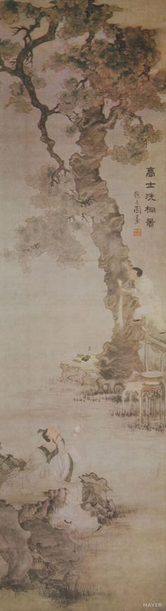 (Korea) 고사세동 by Jang Seung-eop (1843- 1897). ca 19th century CE. colors on paper.