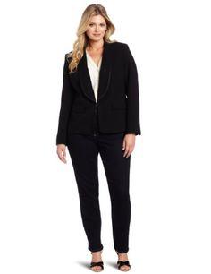 Anne Klein Women's Plus-Size Tuxedo Jacket, Black, 14W Anne Klein,http://www.amazon.com/dp/B008VTIY3M/ref=cm_sw_r_pi_dp_rKs-rb19NQ54JXS2