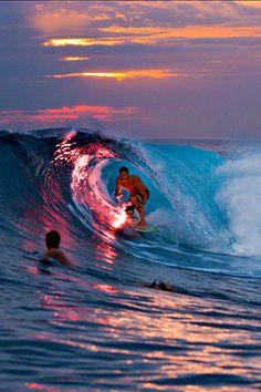 Night surfing!!