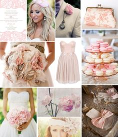 Blush Wedding Color Board on COUTUREcolorado WEDDING