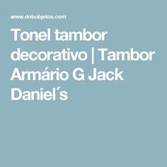 Tonel tambor decorativo   Tambor Armário G Jack Daniel´s