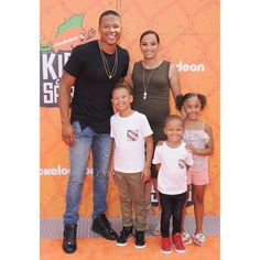 Marvin Jones and family Steph and Ayesha Curry along with dozens of other celebrities arrive for some fun at the Nickelodeon Kids' Choice Sports Awards | Essence.com